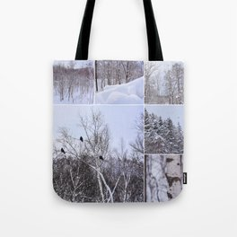 Birds and birches Tote Bag