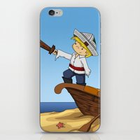 pirate ship iPhone & iPod Skins featuring Pirate by TubaTOPAL