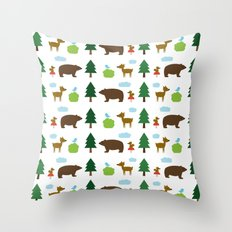 The Essential Patterns of Childhood - Forest Throw Pillow