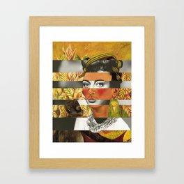 Frida Kahlo's Self Portrait with Parrot & Joan Crawford Framed Art Print