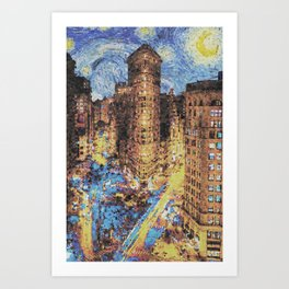 new york starry night Art Print