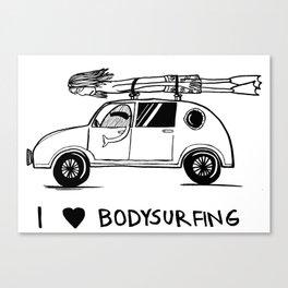 I HEART BODYSURFING Canvas Print