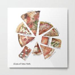 Slices of New York Metal Print