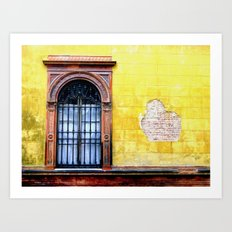 Yellow Window Art Print