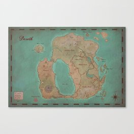 Map of Dereth //Asheron's Call Canvas Print