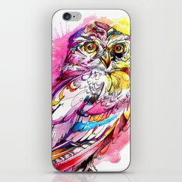Neon Northern Pygmy Owl iPhone Skin