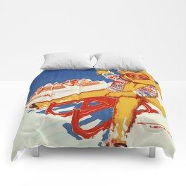 Cortina Vintage Italian travel winter sport Comforters