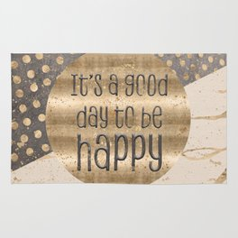 GRAPHIC ART It is a good day to be happy Rug