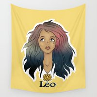 leo Wall Tapestries featuring Leo by Jo Sharp
