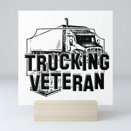 Trucking Veteran Mini Art Print