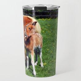 Mare feeding her foal Travel Mug