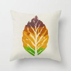 Leaf Cycle Throw Pillow