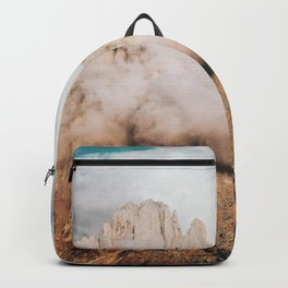 Mountains in Clouds.  Nature Landscape Photography Backpack