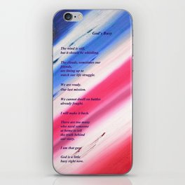 """""""Moon Over The Republic"""" with poem: """"God's Busy"""" iPhone Skin"""