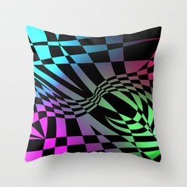 Psychedelic Rockers Throw Pillow
