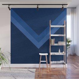Blue geometric pattern Wall Mural