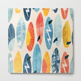 Surfboard white  Metal Print