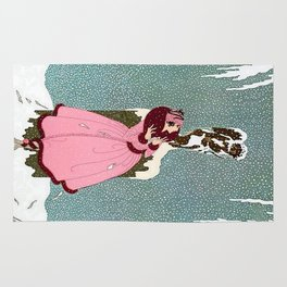 """""""The End of Romance"""" Deco Design Rug"""