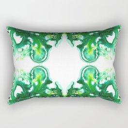 Emerald Geode Rectangular Pillow