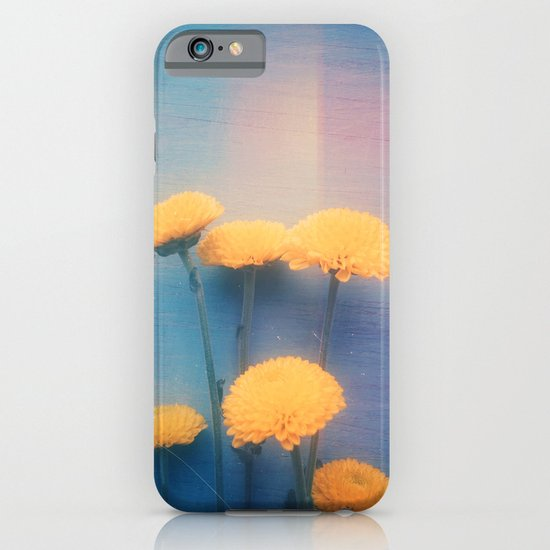 Little Yellow Flowers on a Blue Day iPhone & iPod Case
