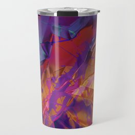 Dragon's Back. Dynamic, Blue, Purple and Orange Abstract. Travel Mug