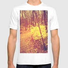 The Golden Hour MEDIUM Mens Fitted Tee White
