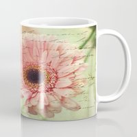 shabby chic Mugs featuring Shabby Chic by whimsy canvas