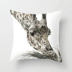 Giraffe - A Long Munch Throw Pillow