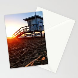"Redondo Beach ""Life Guard Tower 3"" Stationery Cards"