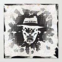 rorschach Canvas Prints featuring Rorschach by Vickn