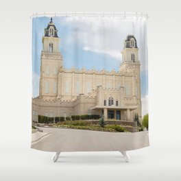 Manti Utah LDS Temple Shower Curtain