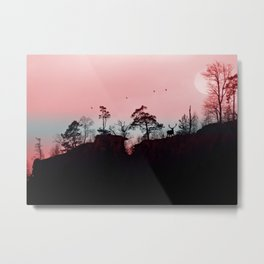 Hazy sunrise in the great outdoors Metal Print