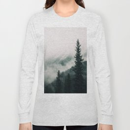 Over the Mountains and trough the Woods -  Forest Nature Photography Long Sleeve T-shirt