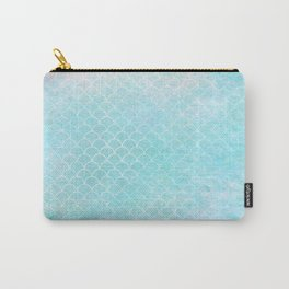 Limpet blue small scallops with paper texture Carry-All Pouch