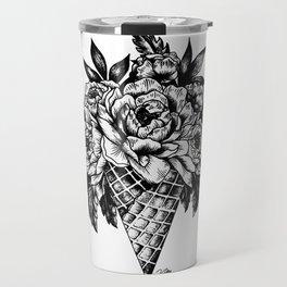 Floral Ice Cream Travel Mug