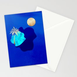 Golden Islands - Royal Blue Minimalist Stationery Cards