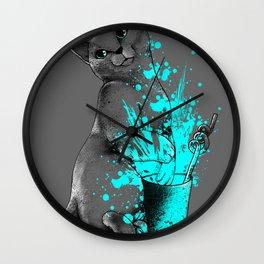 Russian Blue Wall Clock