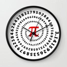 Pi, π, spiral, science, mathematics, math, irrational number, sequence,  Wall Clock