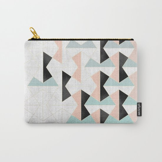 Mixed Material Tiles Carry-All Pouch
