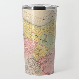 Vintage Map of Boston MA (1876) Travel Mug