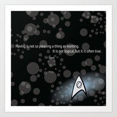 Spock Quote Art Print
