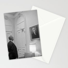 LBJ Looking At FDR Stationery Cards
