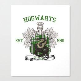 University Style School Shirt | Slytherin Canvas Print
