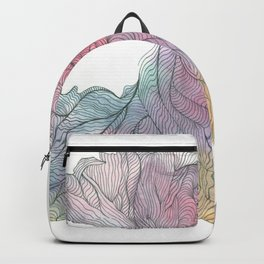 Coral shell Backpack
