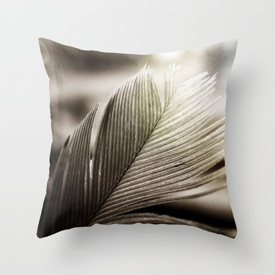 Feather Tip Throw Pillow