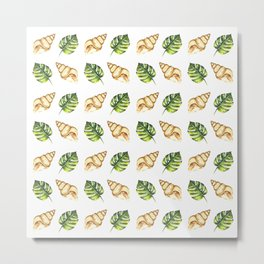 Tropical Summer Pattern Metal Print