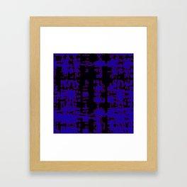 jitter, black blue, 3 Framed Art Print
