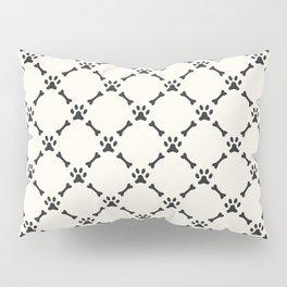 Bone & Paw Pattern Pillow Sham
