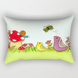 Florida Summer Landscape Rectangular Pillow