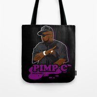 chad wys Tote Bags featuring Chad 'Pimp C' Butler by Chad Trutt